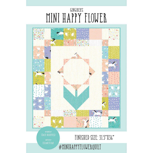 Mini Happy Flower Quilt Pattern - PDF VERSION