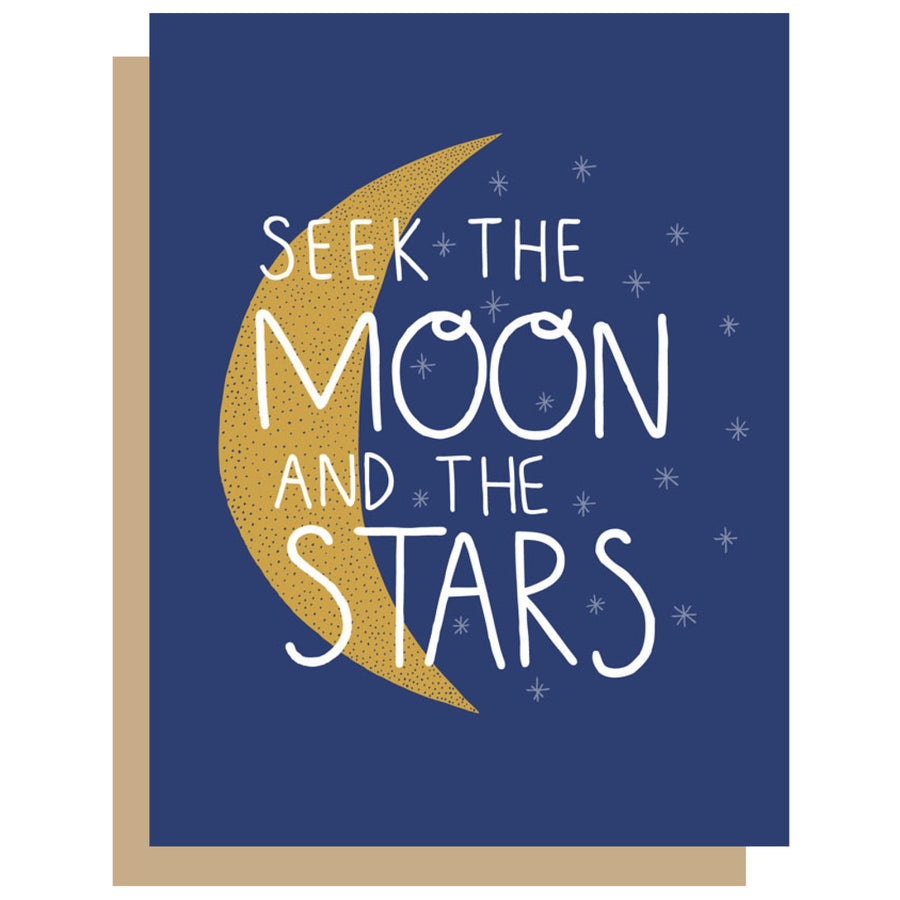 Seek The Moon Card