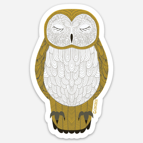 Nocturnal Owl Sticker