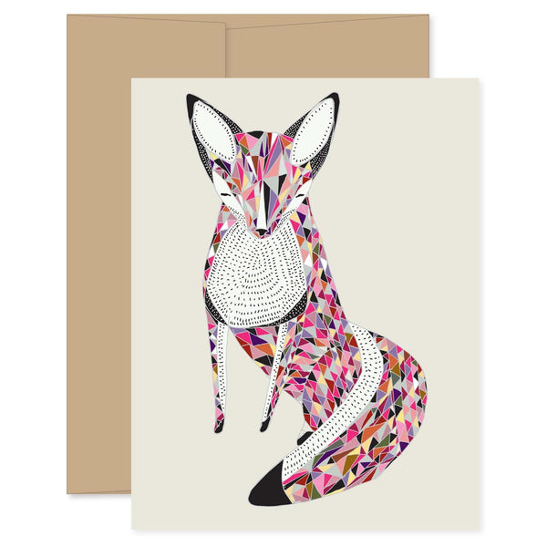 Quilted Fox Card