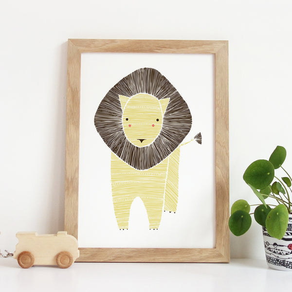 Safari Lion Art Print