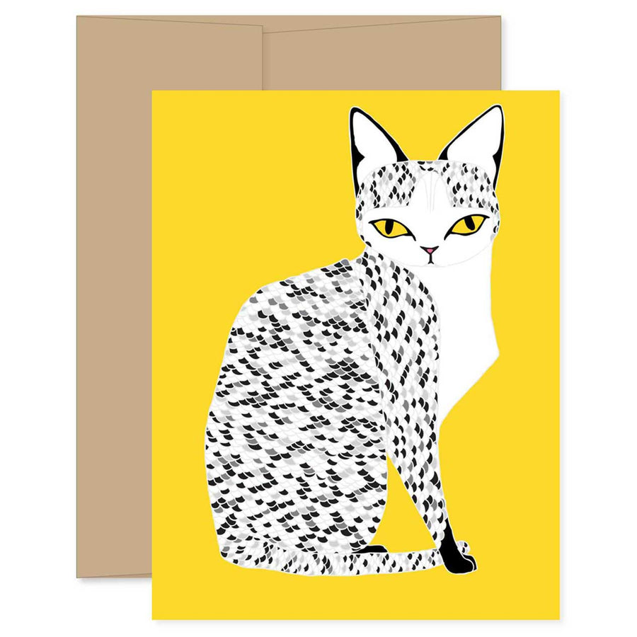 Yellow Mau Cat Card