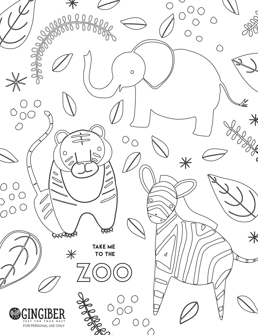 Copy of Downloadable Coloring Page -Zoo Day