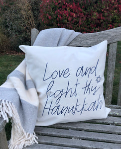 20x20 Holiday Pillow:Hanukkah Love and Light