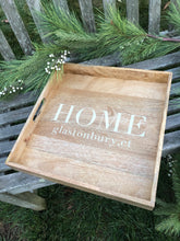 Load image into Gallery viewer, Custom Wood Tray: Home With Town Name