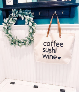 Customized Canvas Tote Bag With Favorite Things