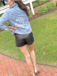 "Wedding Collection: Customized Jean Jacket: The ""Mrs."" Jacket"