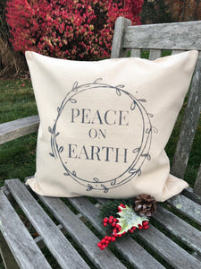 Holiday Pillow: 20x20 Peace on Earth