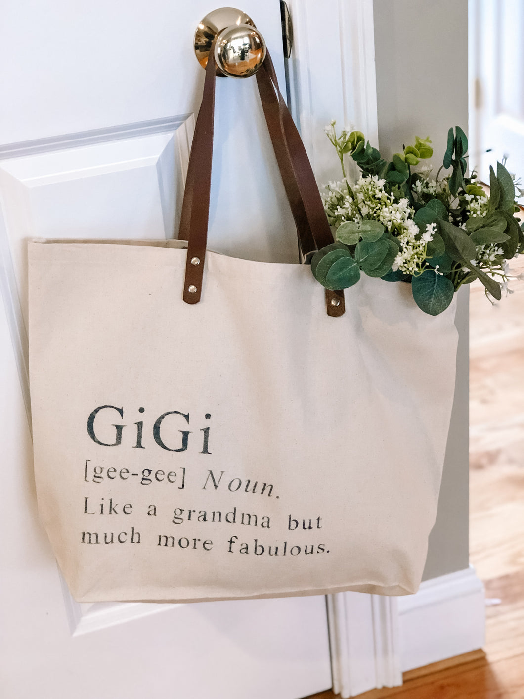 Mom's Day Tote Bag: Gigi Definition