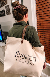 Graduation Gift: Leather Tote Bag Home Double Sided With Coordinates