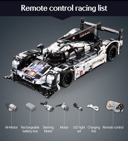 Endurance RC Car Bricks Compatible MOC Model Building Blocks Remote Control Car Racing
