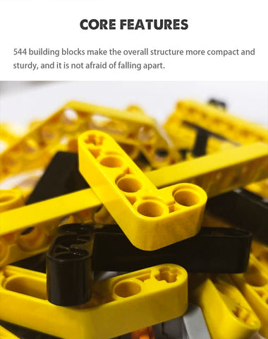 RC Electric Motor Track Car Building Blocks Engineering Bricks 544PCS