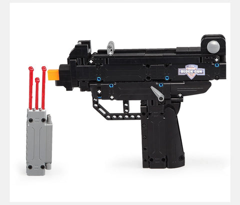 cada Desert Eagle Pistol MK23 Pistol Uzi submachine gun military ww2 Building Blocks legoing Technic city police swat Series Can Fire Bullets toys for kids