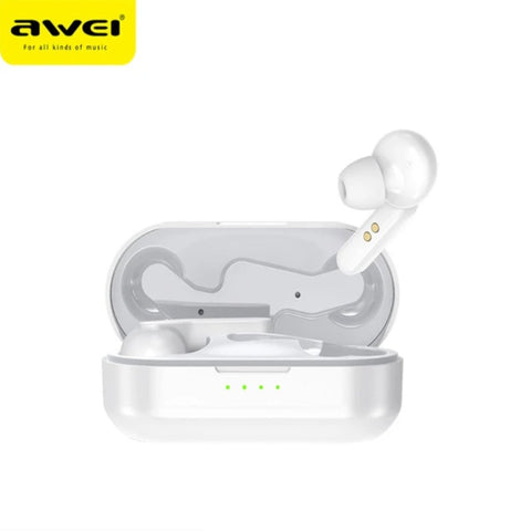 Image of AWEI Bluetooth V5.0 True Wireless Charging Earbuds With Noise Canceling