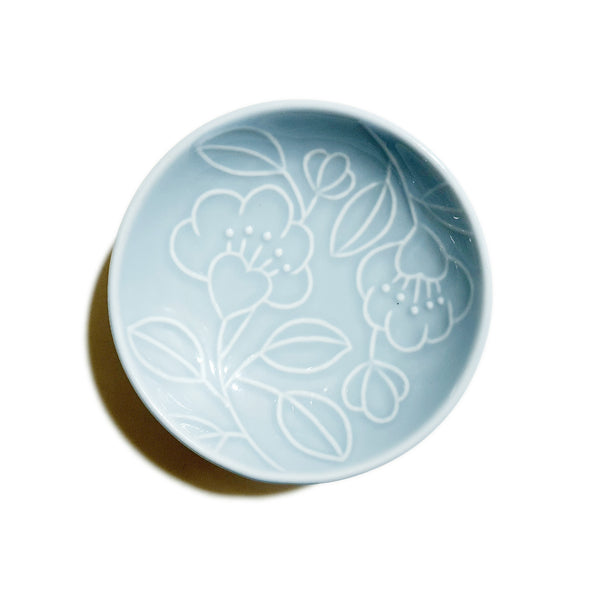 Refreshing Height Round Dish 116mm (Sky Blue Colors)