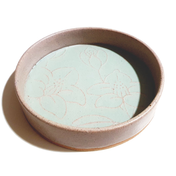 Refreshing Round Double Duo Plate 235mm (Light Green Color)