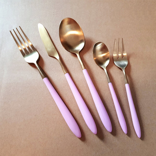 (Platinum Line POM) Frontiera Epic Pink Gold 20Pcs, 4-Person Cutlery Set