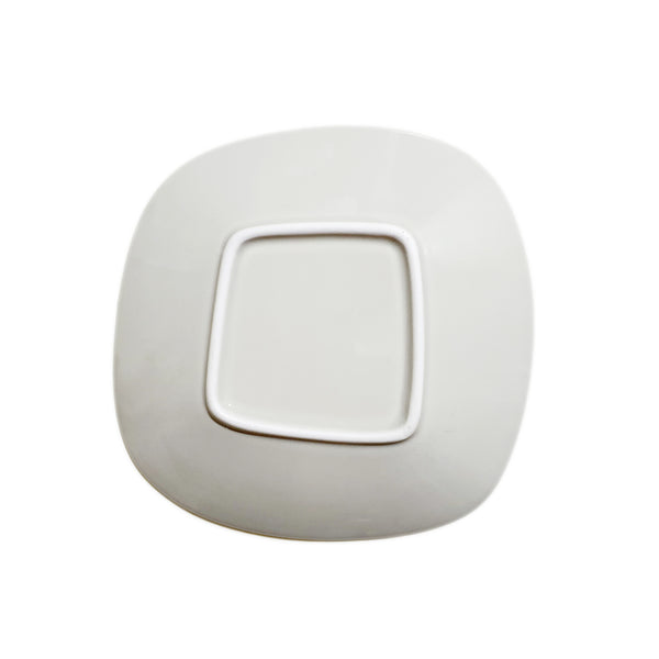 Refreshing Roundish Square Plate (Cream Color)