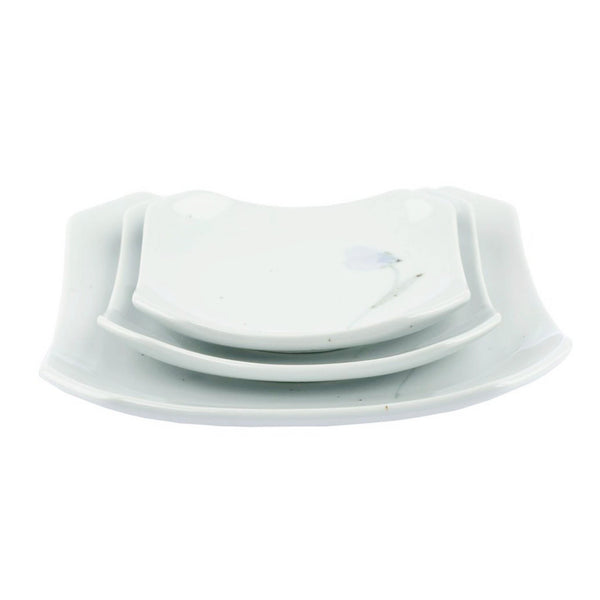 Day Flower Square Dinner Plate (L)