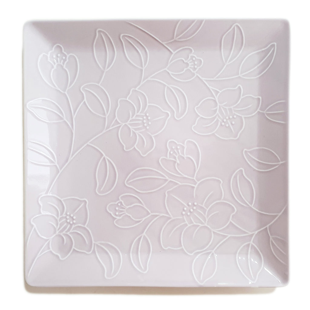 Refreshing Square Dinner/Sharing Plate 280mm (Baby Pink Color)