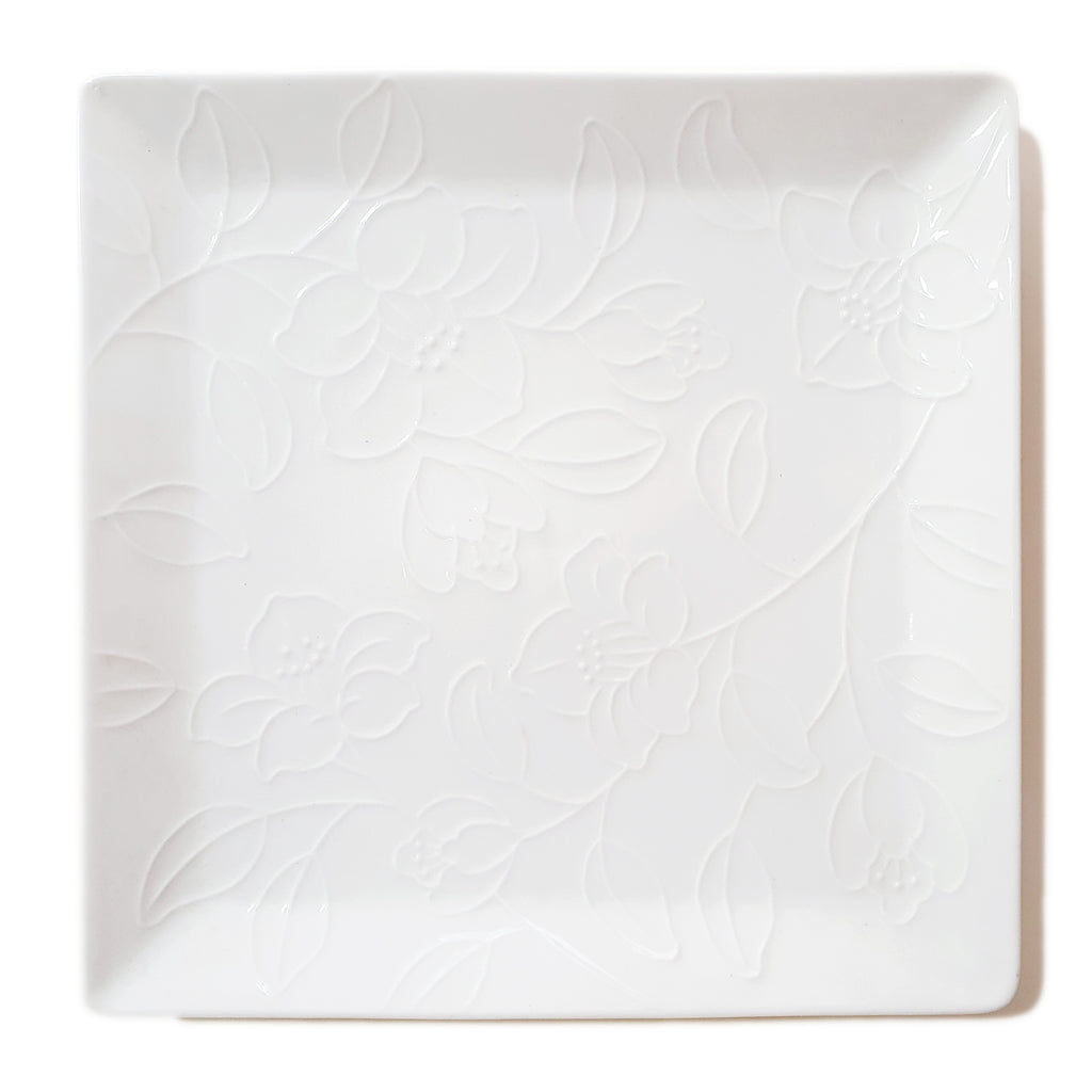 Refreshing Square Dinner/Sharing Plate 280mm (White Color)