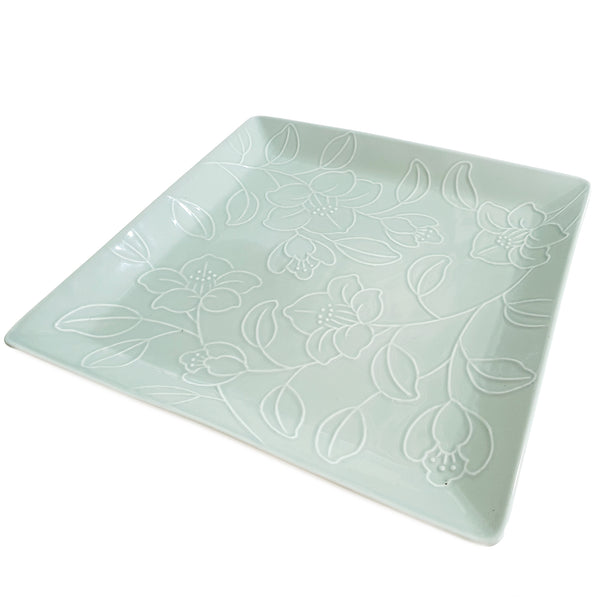 Refreshing Square Dinner/Sharing Plate 280mm (Mint Color)