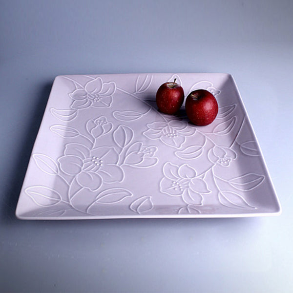 Refreshing Square Dinner/Sharing Plate 280mm (Dark Brown Color)