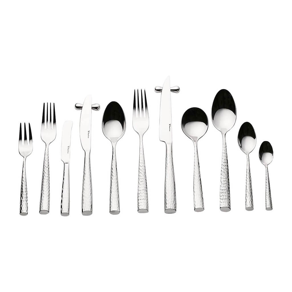 Frontiera Hammered (Series2) 72Pcs, 6-Person Cutlery Set