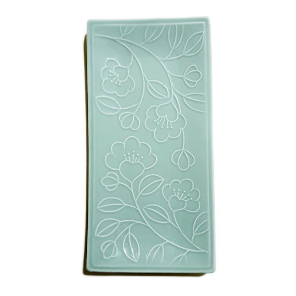 Refreshing Rectangular Plate 300mm (Mint Color)