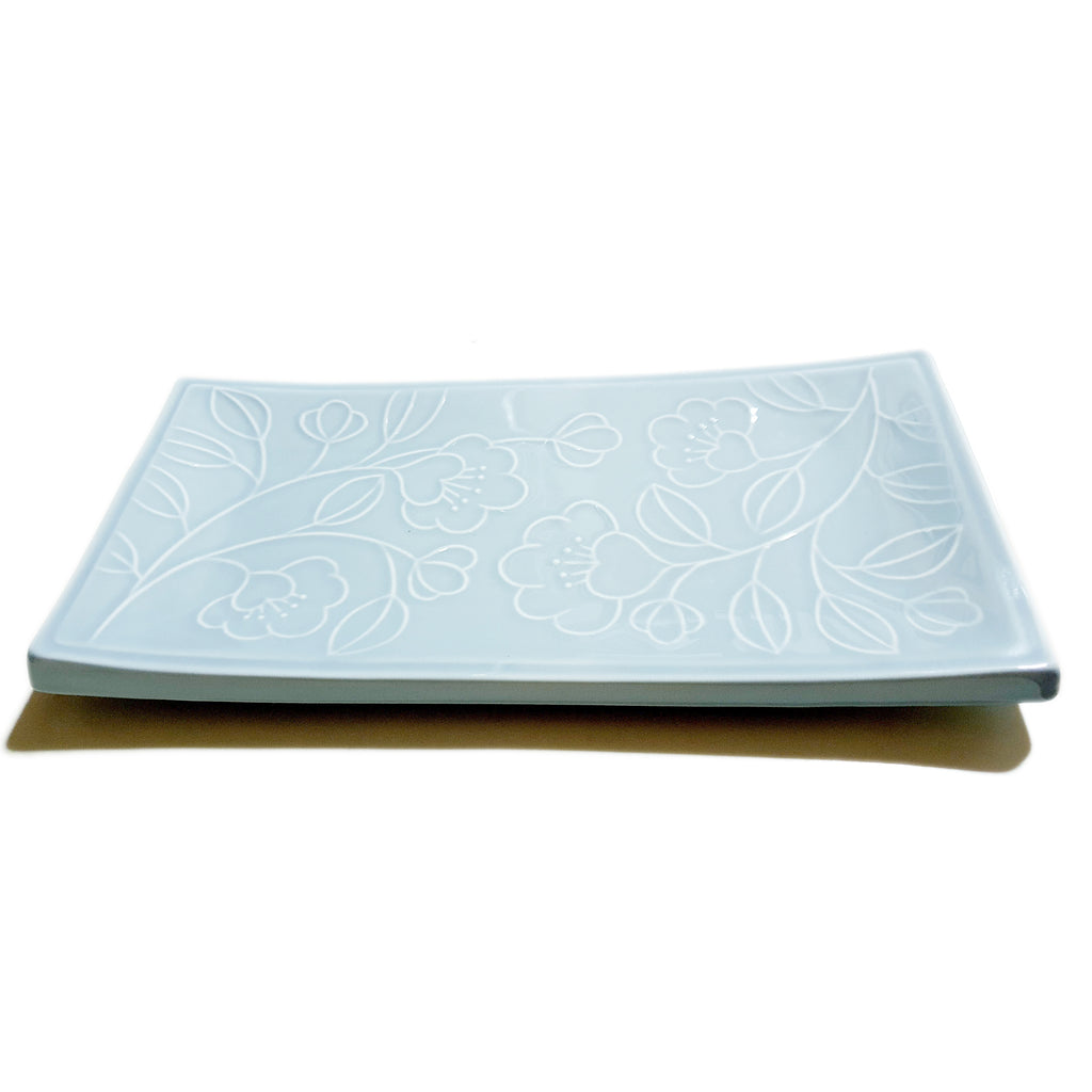 Refreshing Rectangular Plate 300mm (Sky Blue Color)