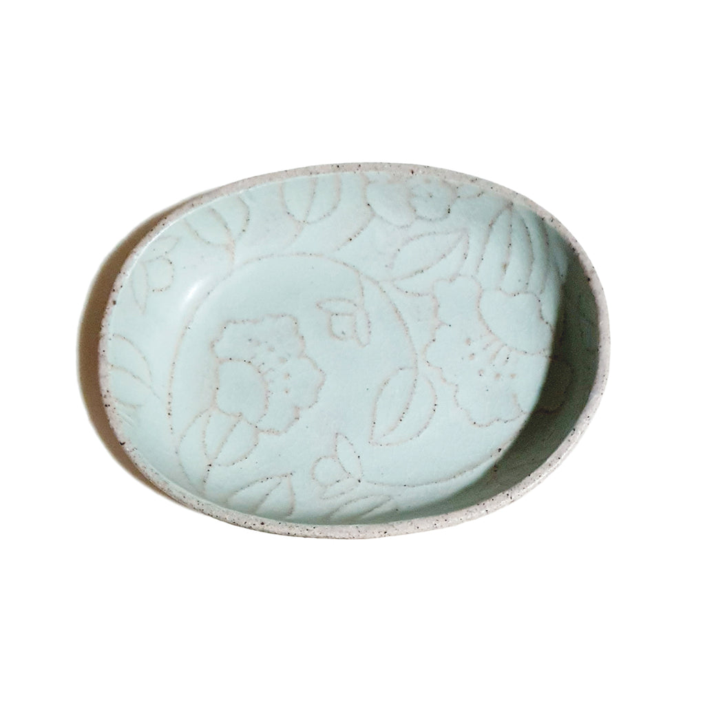 Refreshing Oval Plate 160mm (Pastel Mint Color)