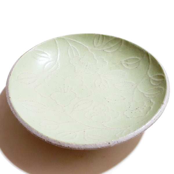 Refreshing Round Gravy Plate 280mm (Pastel Green Color)