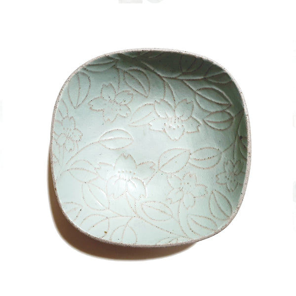 Sqaure Roundish Bowl 170mm - (Mint Color)