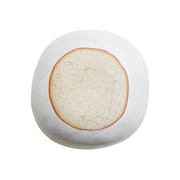 Roundish Square Dish 150mm (Cream Color)