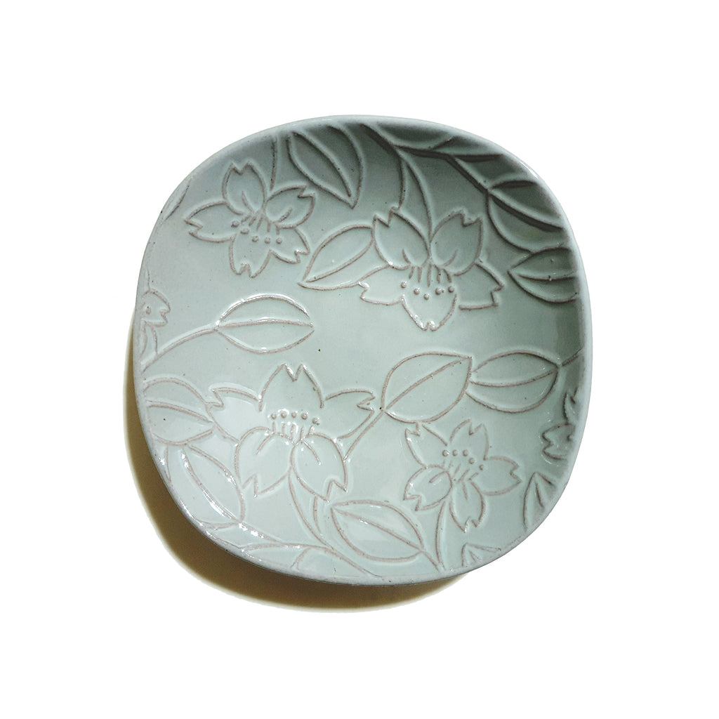 Roundish Square Dish 150mm (Blueish-Grey)