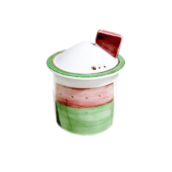 Hand Painted Red Roof House Spice Jar