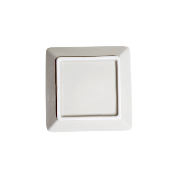 Refreshing Square Plate 127mm (Cream Color)