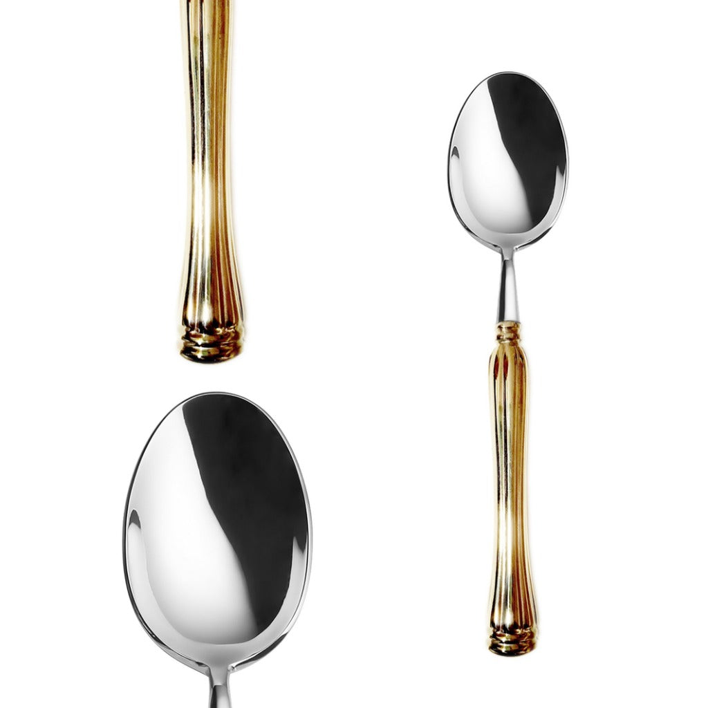 Frontiera Swan Gold Table Spoon 203mm
