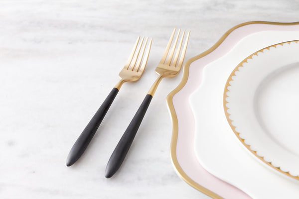 Epic Black Gold Dessert Fork 187mm