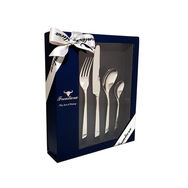 Frontiera White Night 24-Pieces, 6 Person Cutlery Set
