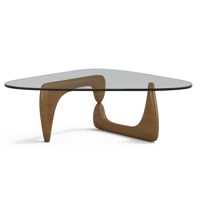 Table I. Noguchi Coffe Table Walnut Lacquered