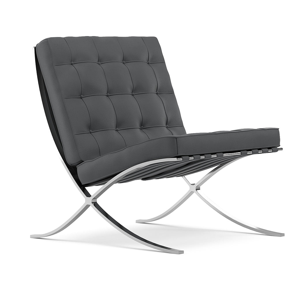 Lounger L. Mies Van Der Rohe Barcelona Grey Chair