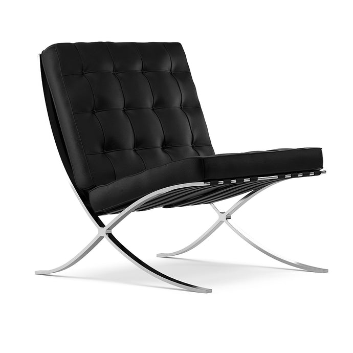 Lounger L. Mies Van Der Rohe Barcelona Black Chair