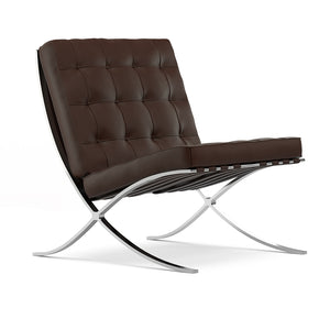 Lounger L. Mies Van Der Rohe Barcelona Brown Chair