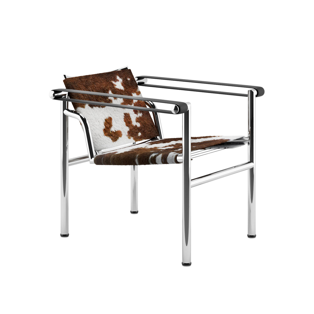 Fauteuil Le Corbusier LC1 Basculante Brown Pony 1