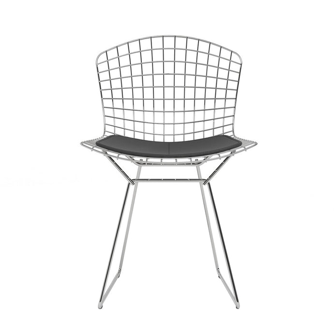 Chaise Bertoia Side Chair Chromed Dark Grey