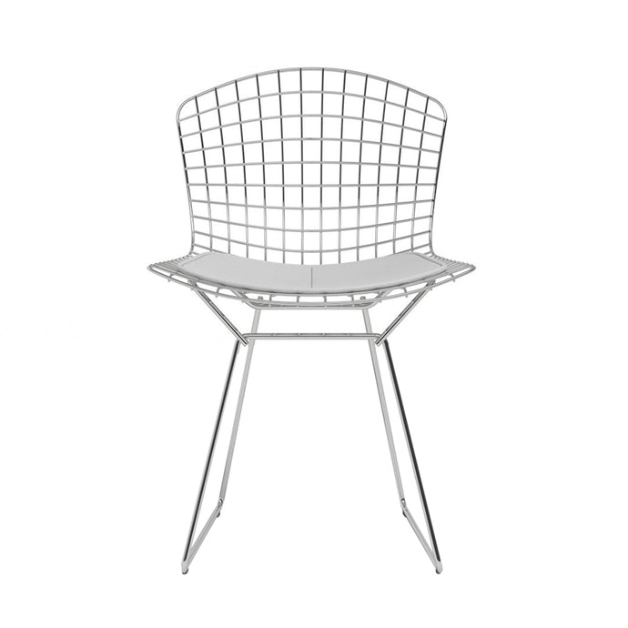 Chaise Bertoia Side Chair Chromed White