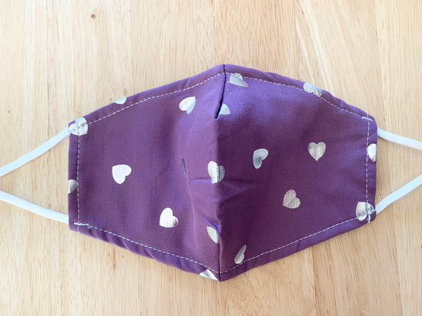Purple Hearts Face Mask