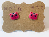 Handmade Plastic Earrings - Animal Crossing - Peanut