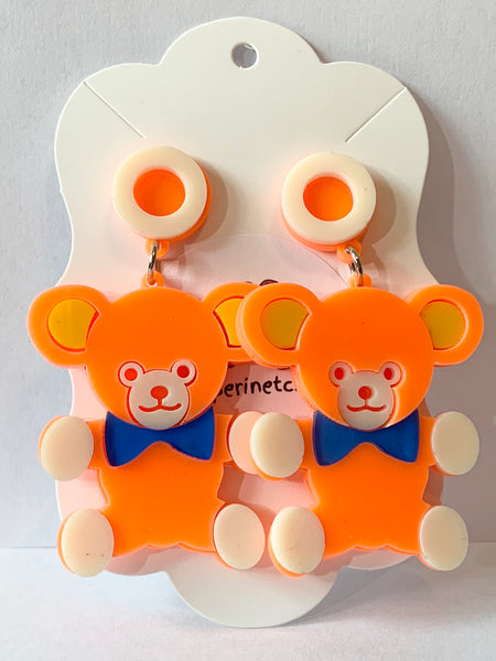 Acrylic Earrings - Teddy Bears